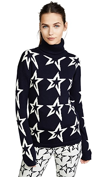 Perfect Moment Star Dust Sweater In Navy/Snow White Star