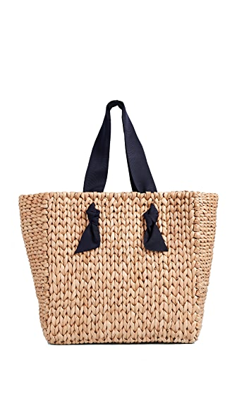 PAMELA MUNSON Isla Bahia Tote In Navy/Natural