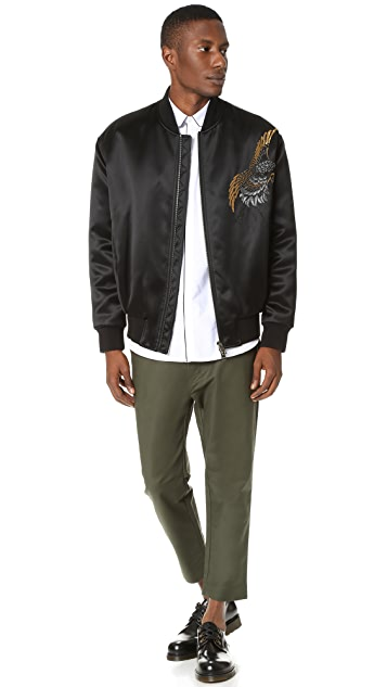 Ports 1961 Satin Embroidered Bomber Jacket