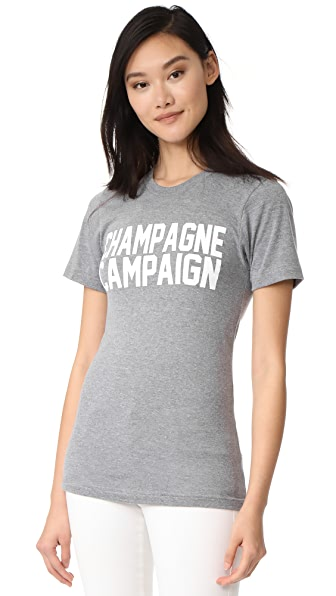 Private Party Champagne Campaign Tee In Grey