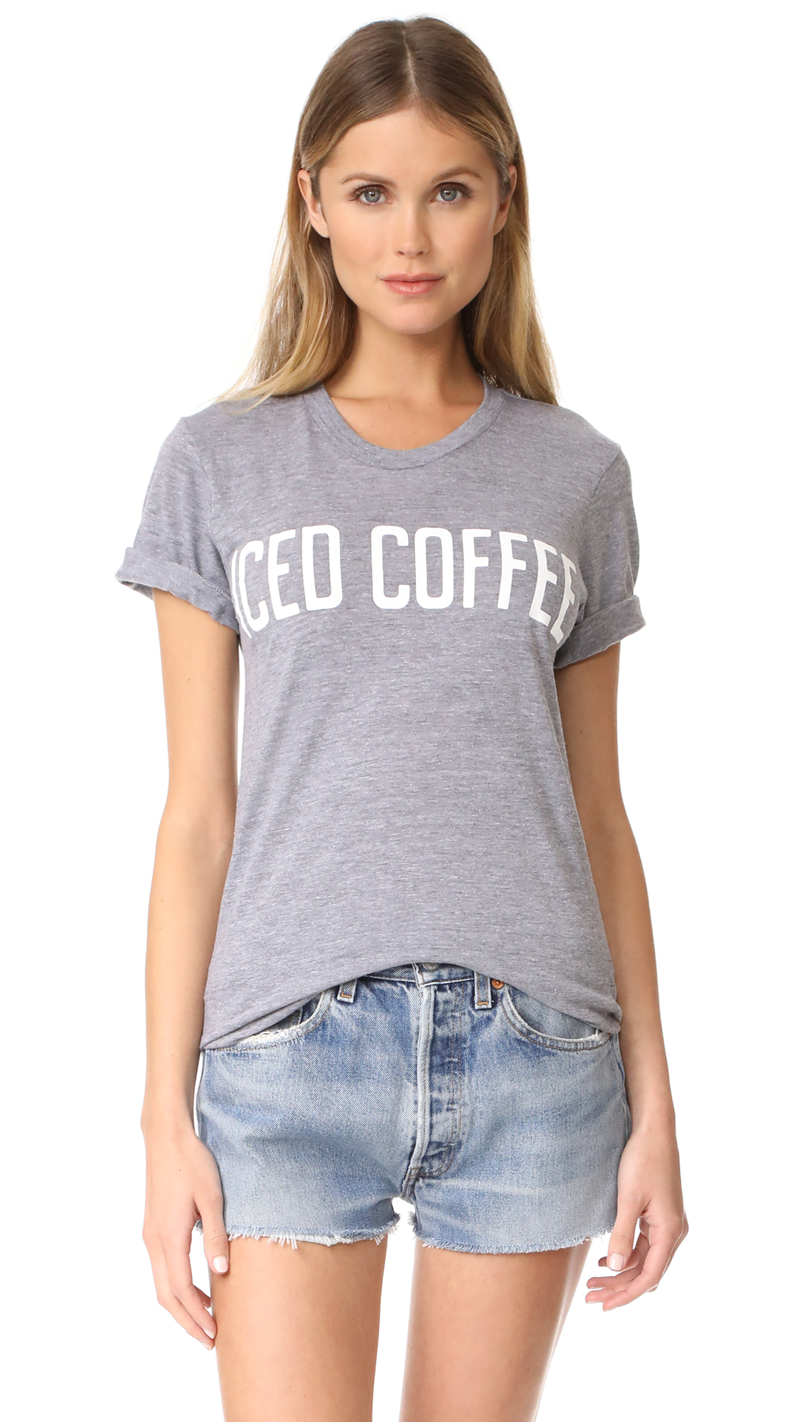 Private Party Iced Coffee Tee - Grey