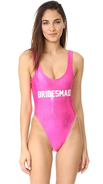 Private Party Bridesmaid Metallic One PIece In Pink