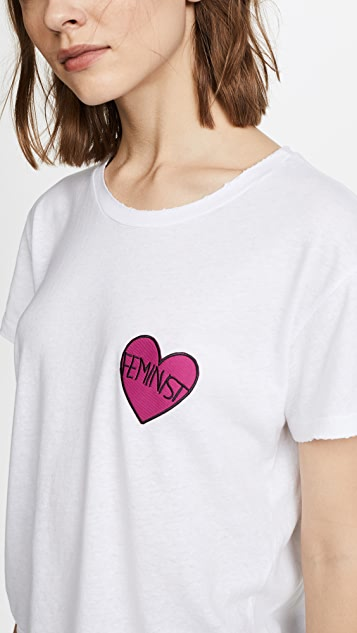 Private Party Feminist Heart Patch Tee