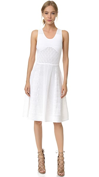 Prabal Gurung Sleeveless Knit Flared Skirt Dress