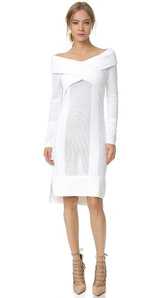 Prabal Gurung Long Sleeve Off Shoulder Dress