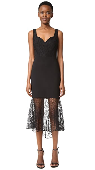 Prabal Gurung Sweetheart Combo Sheath Dress - Black