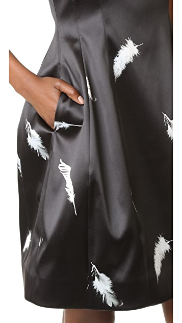 Prabal Gurung Sleeveless Scoop Neck Molded Seam Dress
