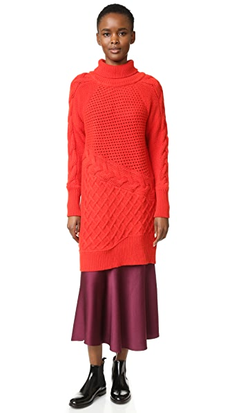 Prabal Gurung Cashmere Turtleneck Sweater - Cherry