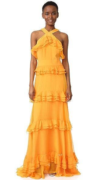 Prabal Gurung Tiered Ruffle Gown