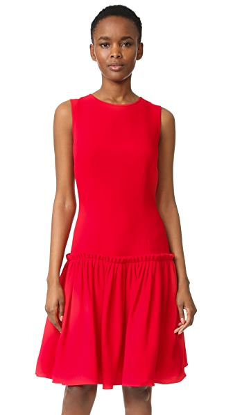 Prabal Gurung Drop Waist Dress - Crimson