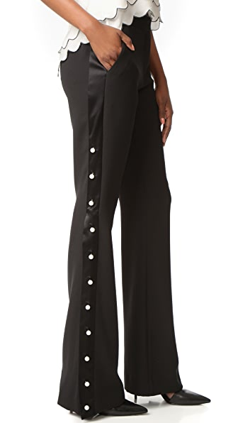 Prabal Gurung Flared Pants - Black