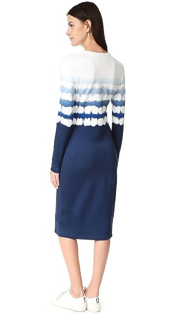 Prabal Gurung Long Sleeve Printed Dress