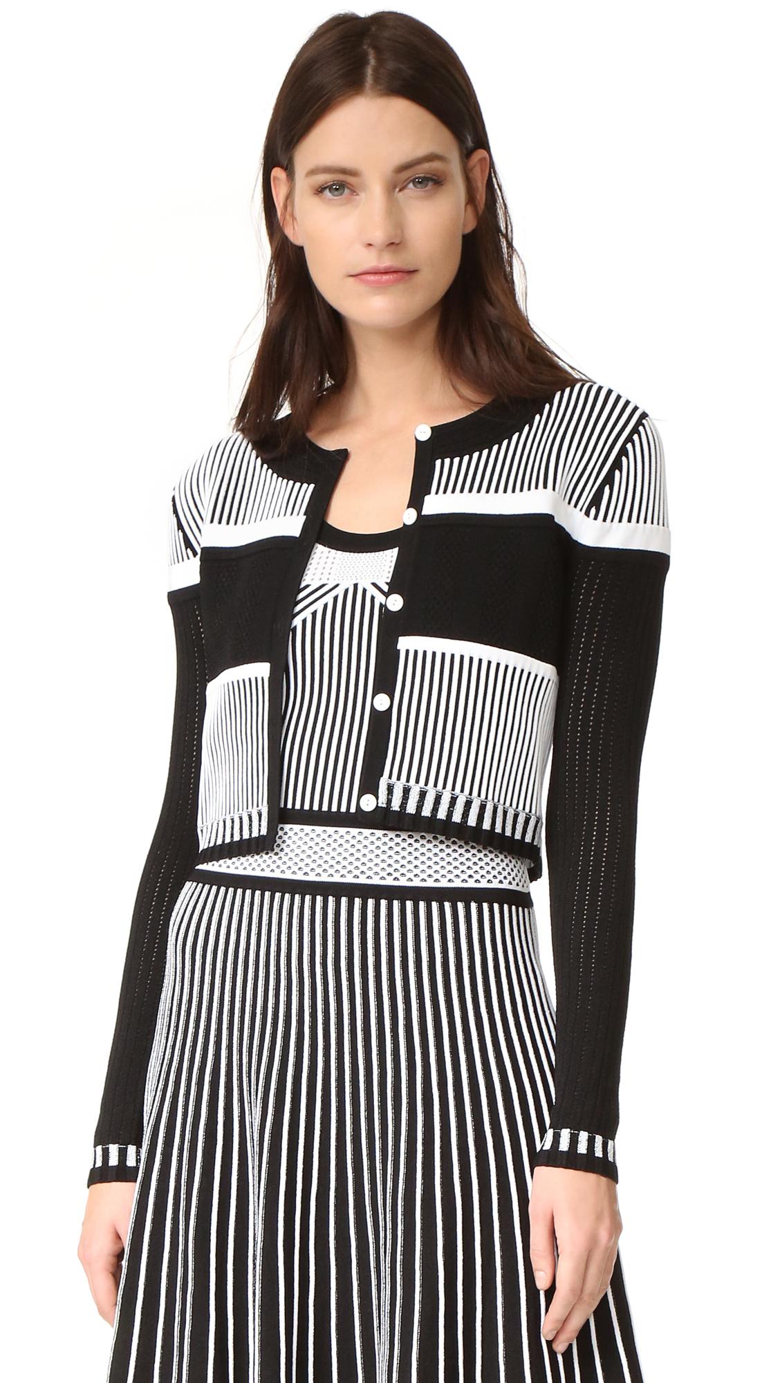 prabal gurung female prabal gurung knit bolero blackwhite