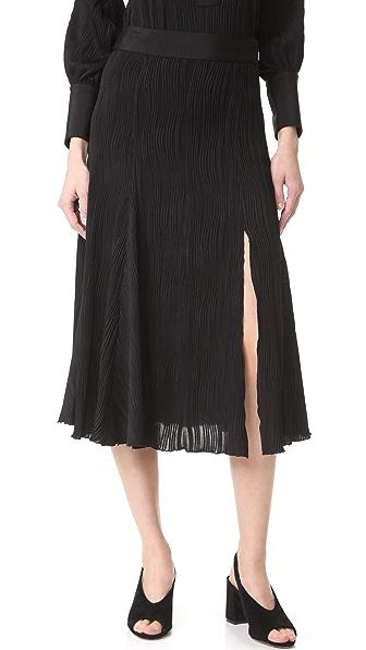 Prabal Gurung Jersey Pleated Skirt