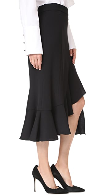 Prabal Gurung Ruffle Hem Skirt