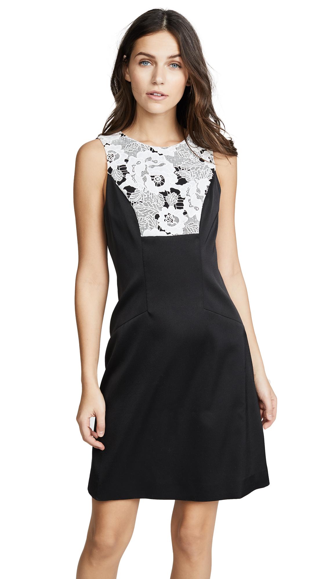 Prabal Gurung Shift Dress - Black/White
