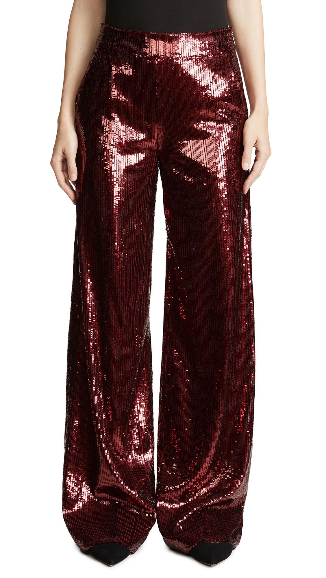 Prabal Gurung Wide Leg Sequin Pants In Sienna