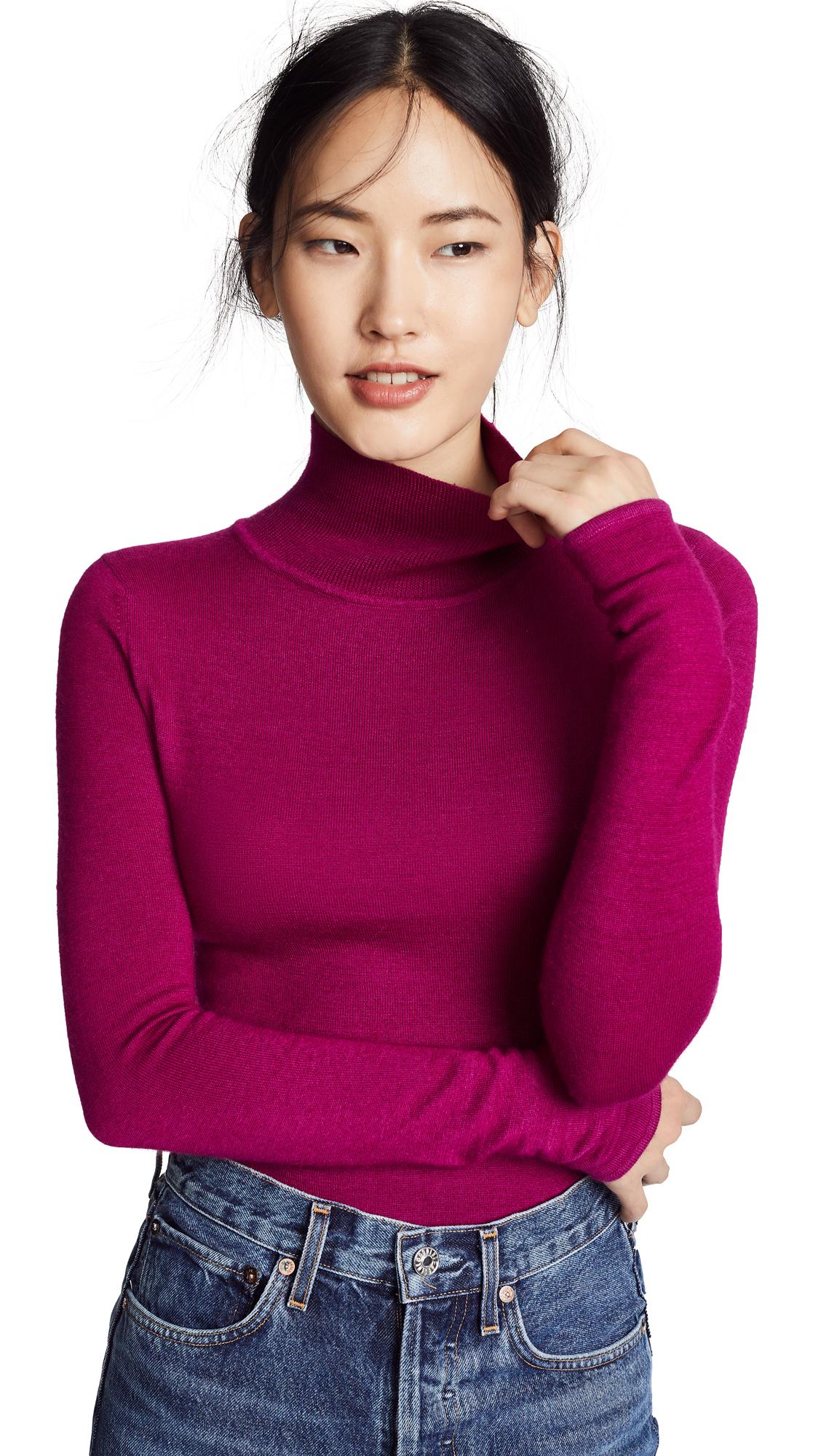 Prabal Gurung Carina Cashmere Turtleneck Sweater In Raspberry