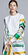 Prabal Gurung 金属元素衣袖牛仔布运动衫