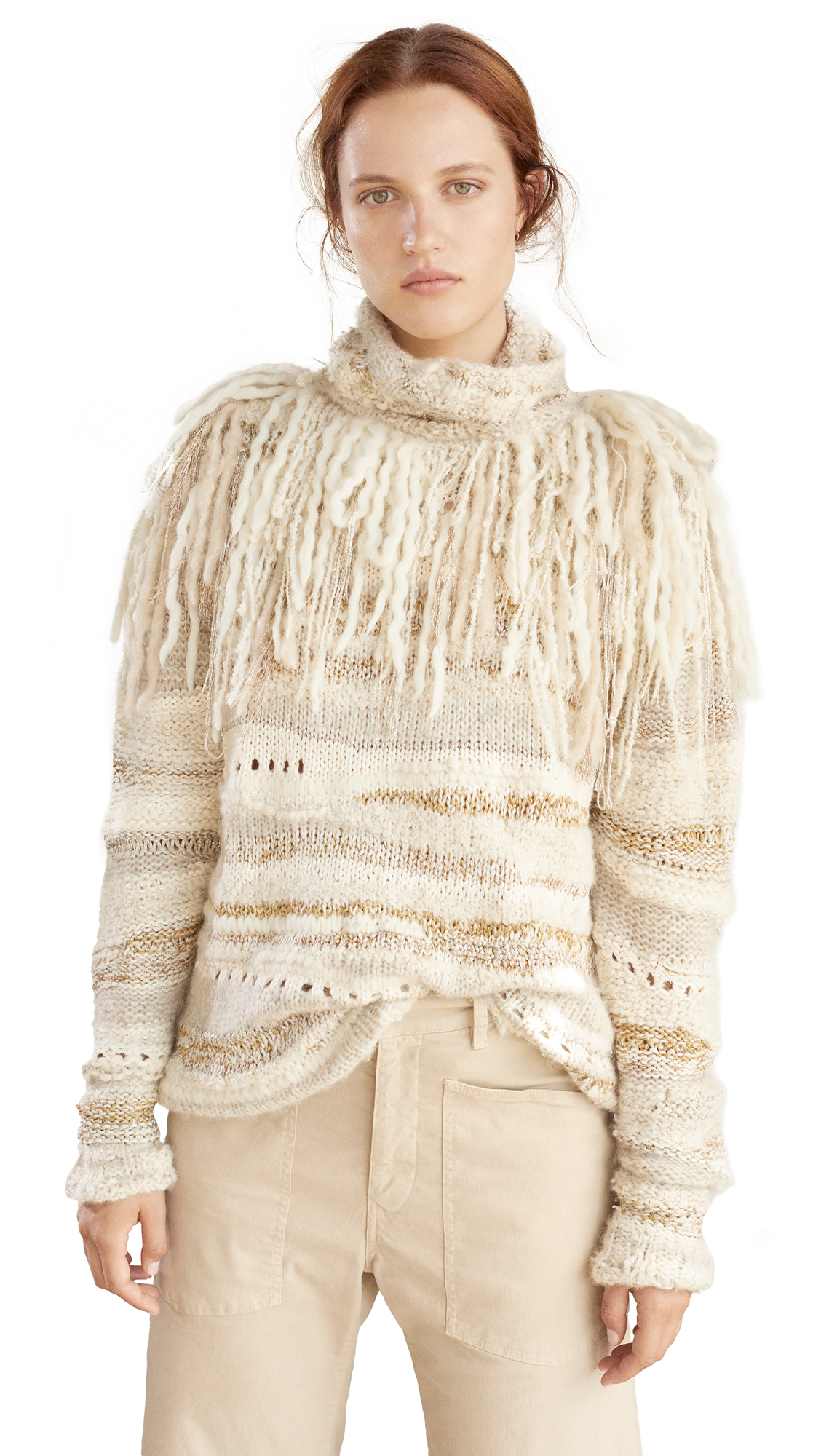 Buy Prabal Gurung online - photo of Prabal Gurung Lucca Fringed Turtleneck