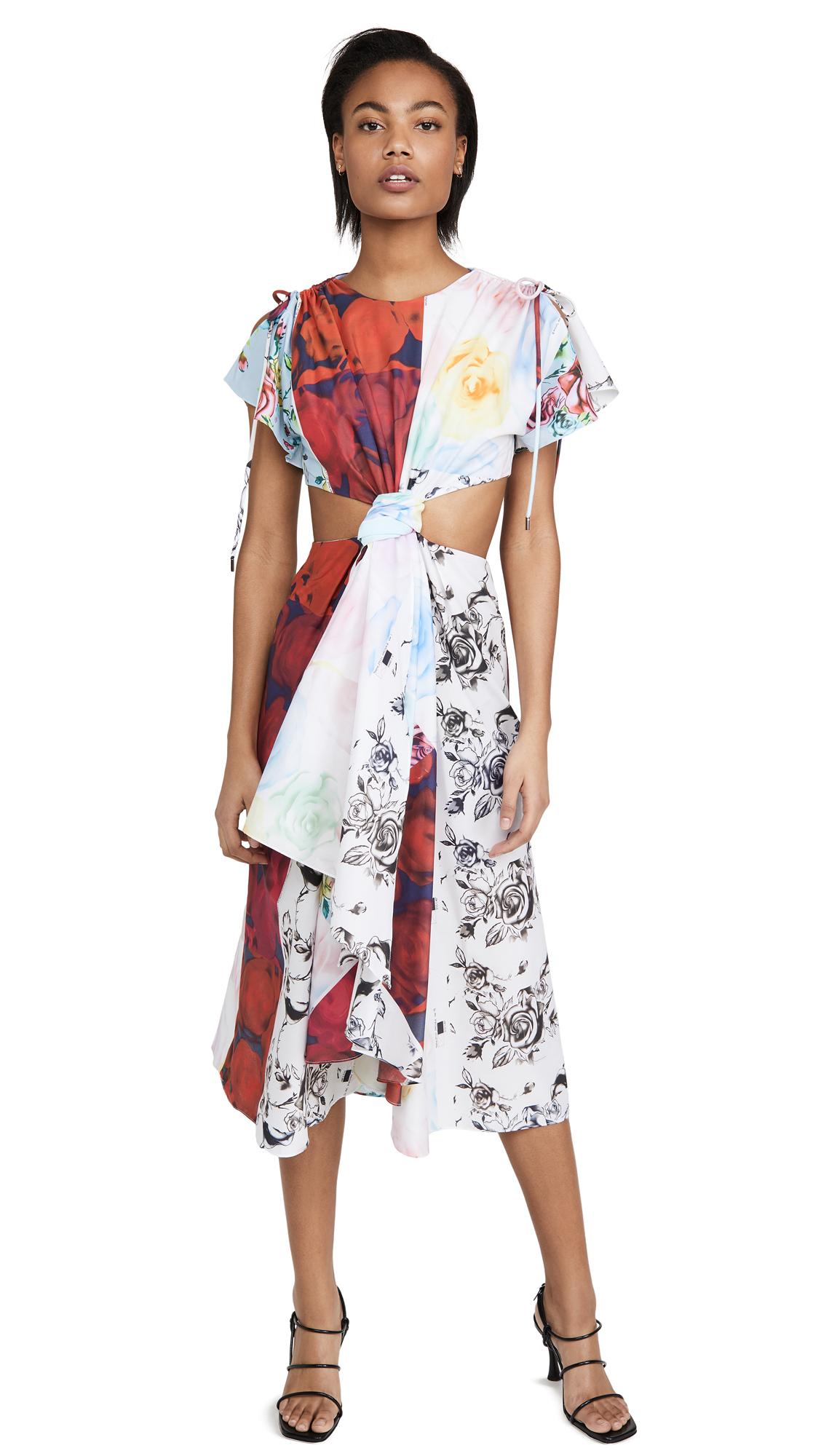 Buy Prabal Gurung Patchwork Cut Out Dress online beautiful Prabal Gurung Clothing, Dresses