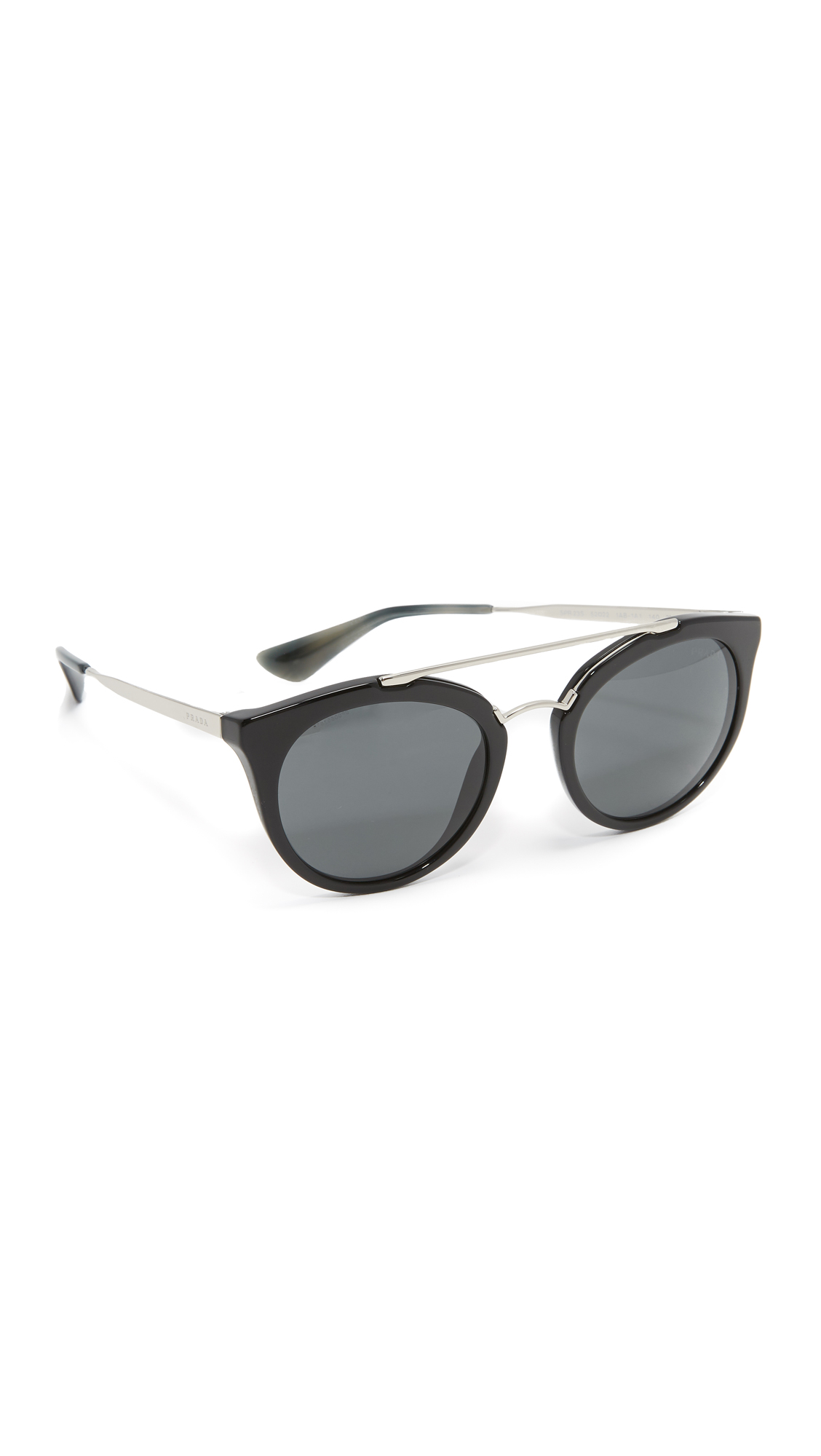 Prada Aviator Sunglasses - Black/Grey at Shopbop