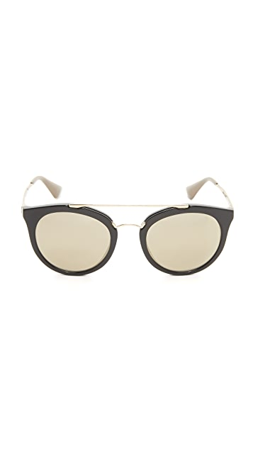 Prada Mirrored Aviator Sunglasses