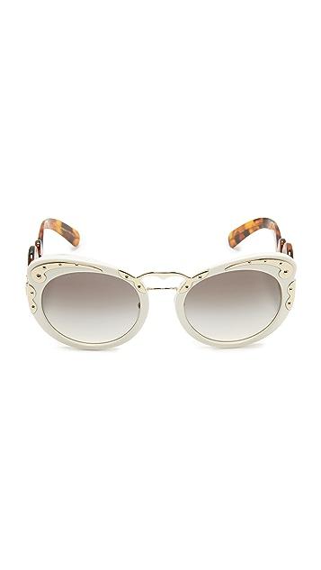 Prada Embellished Sunglasses