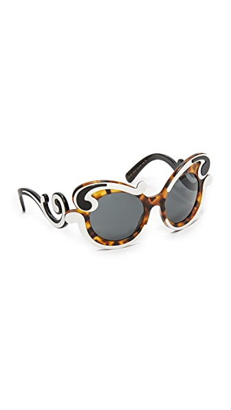 Prada Special Fit Swirl Sunglasses at Shopbop