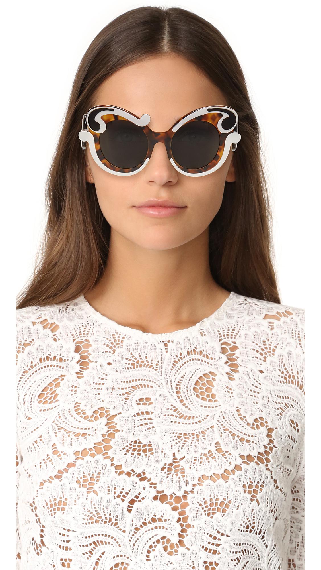 3f85c9a0488c4 Prada Special Fit Swirl Sunglasses