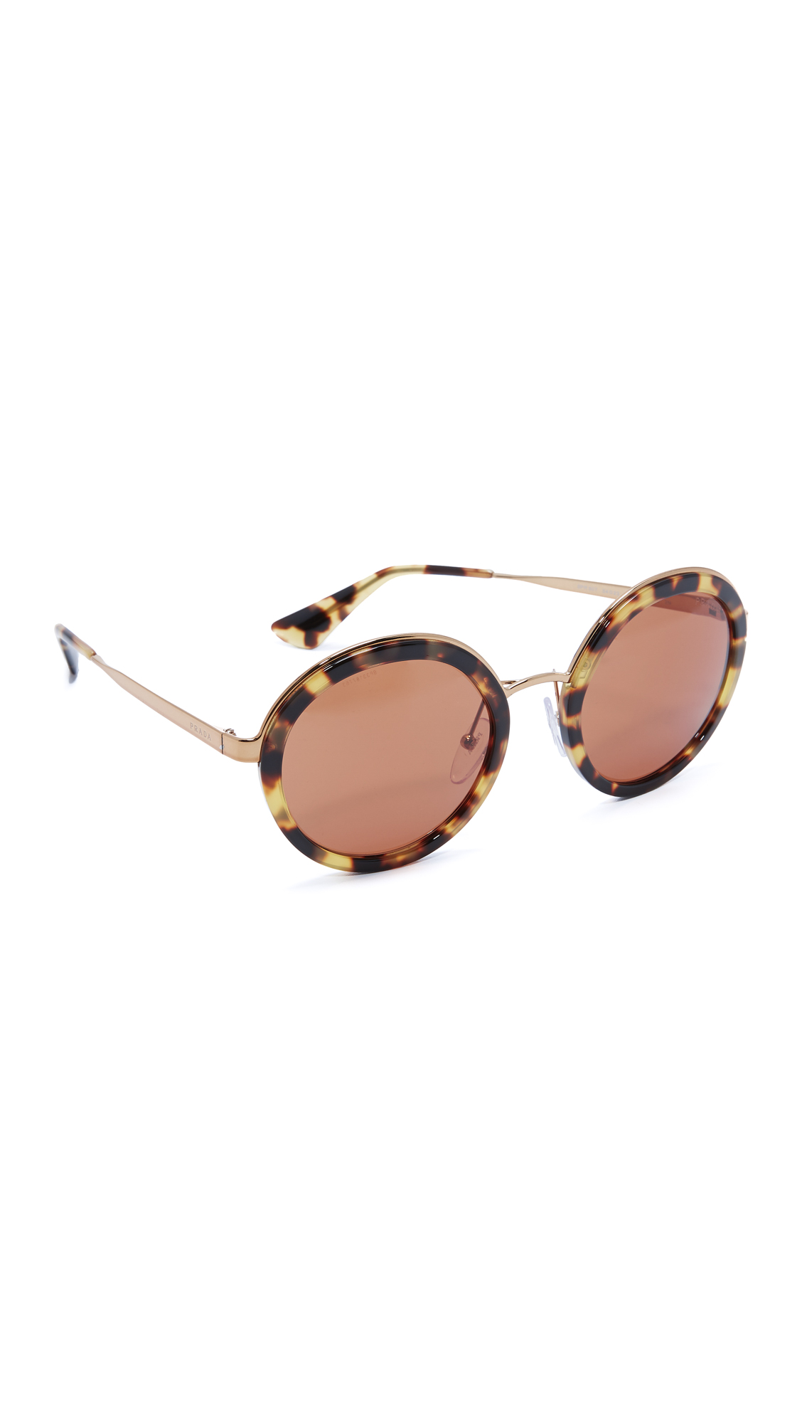 Prada Round Sunglasses - Medium Havana/Brown at Shopbop