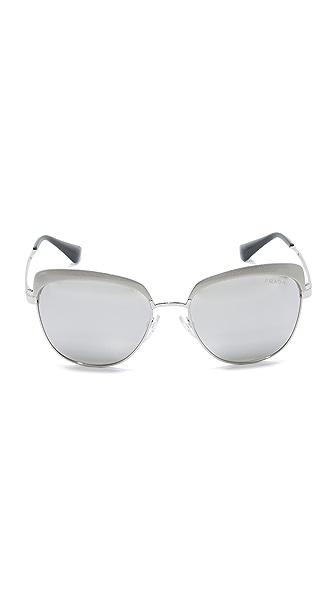 PRADA Mirrored Square Sunglasses, 55Mm