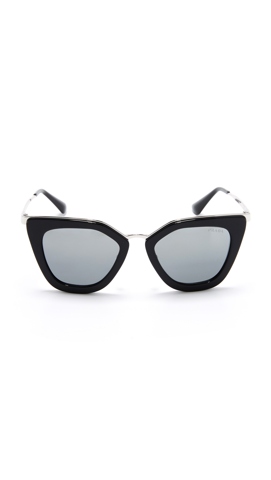 0cacac78a6 Prada Metal Bridge Mirrored Sunglasses