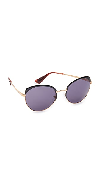 Prada Brow Round Sunglasses