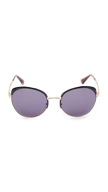 Prada Brow Round Sunglasses