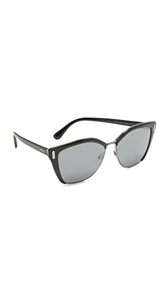 Prada Cat Eye Sunglasses In Black/Grey