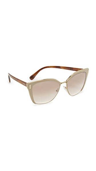 Prada Cat Eye Sunglasses - Light Brown/Brown