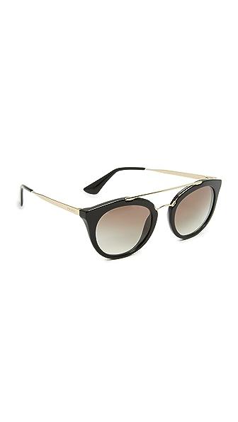 Prada Round Aviator Sunglasses at Shopbop