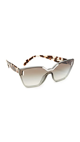 Prada Hide Catwalk Sunglasses - Light Grey/Grey