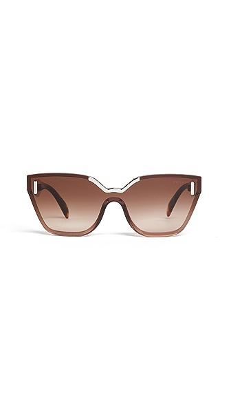 Prada Hide Catwalk Sunglasses In Light Brown/Brown