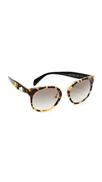 Prada Crazy Daisies Sunglasses - Medium Havana/Grey