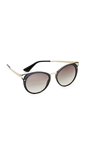 Prada Wanderer Sunglasses - Black/Grey