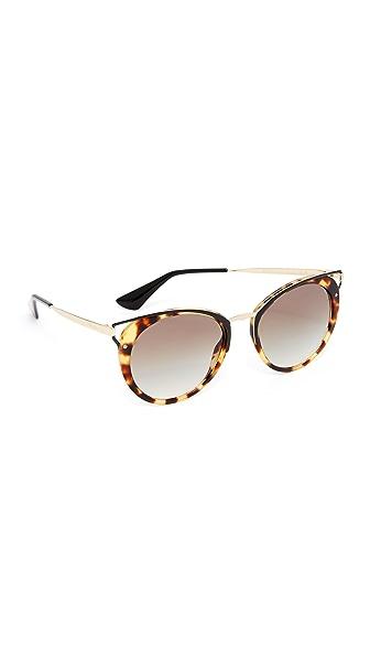 Prada Wanderer Sunglasses - Medium Havana/Grey