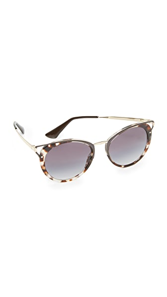 Prada Wanderer Sunglasses - Spotted Opal Brown/Grey