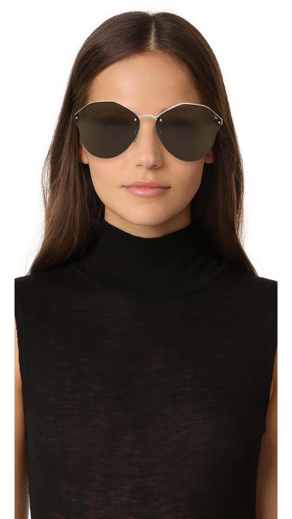 ec13cb51e9de Prada Cinema Oval Sunglasses   SHOPBOP