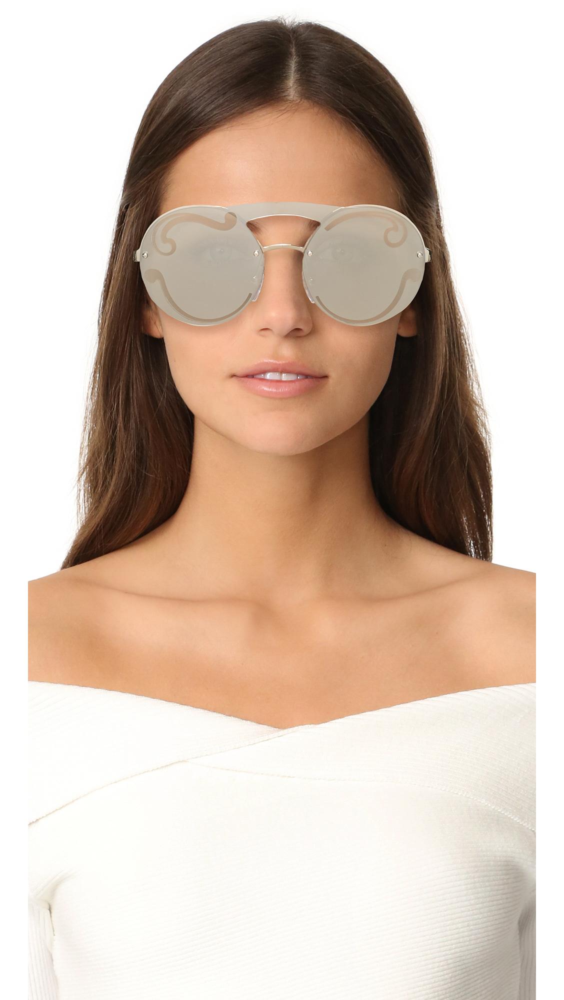 b56603c01e27 ... cheap prada cinema round brow bar sunglasses shopbop f7702 c3436