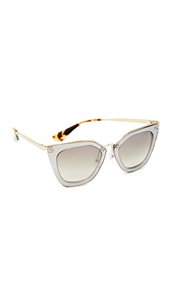 Prada Transparent Sunglasses - Transparent Grey/Grey