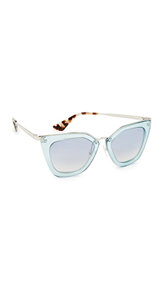 Prada Transparent Sunglasses at Shopbop