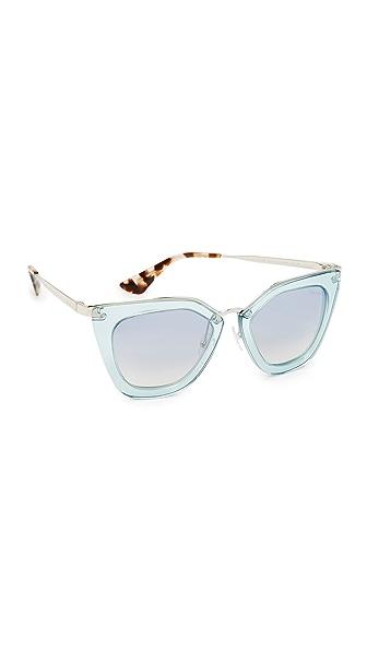Prada Transparent Sunglasses - Transparent Azure/Blue