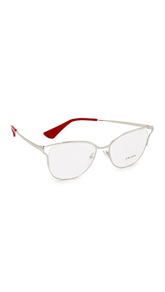 Prada Cinema Glasses - Silver/Clear